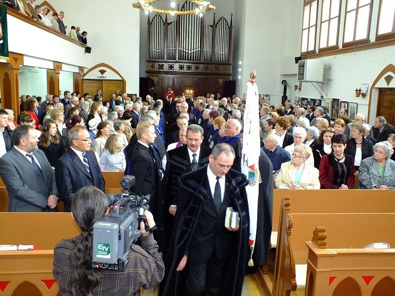 Az ötven éve lerombolt brassói református templomra emlékeztek