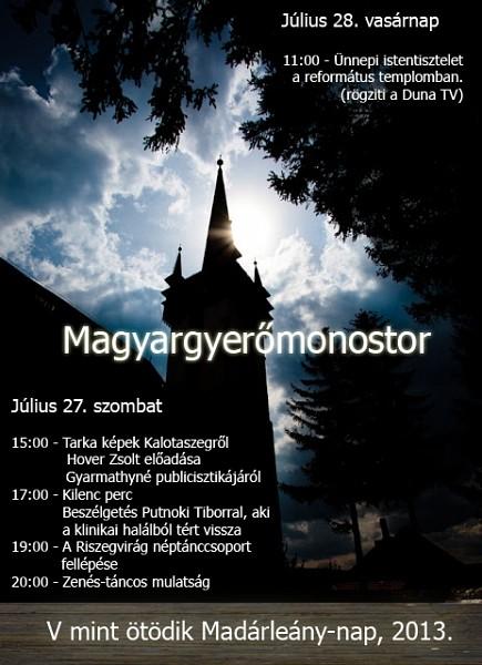 V. Madárleány nap Magyargyerőmonostoron