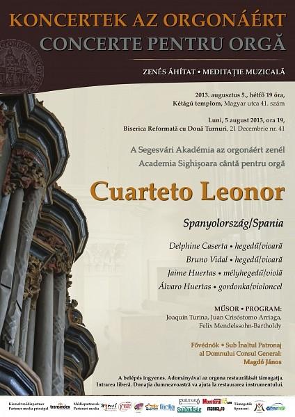 Koncertek az orgonáért - Cuarteto Leonor