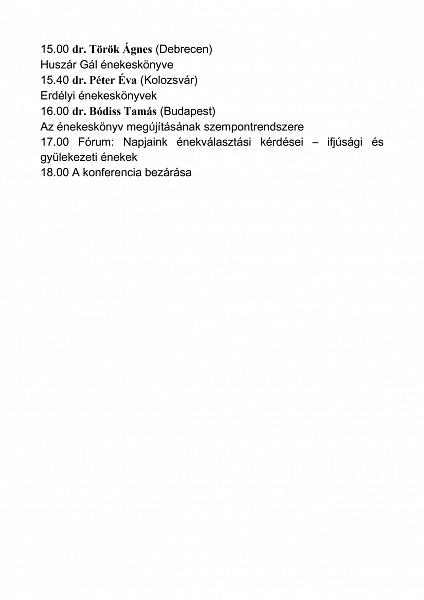 Egyházzenei konferencia Kolozsváron