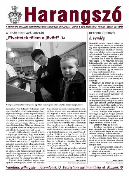 A Harangszó 2013. novemberi második számából