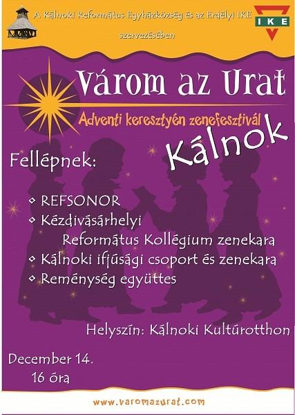 Várom az Urat adventi keresztyén zenefesztivált szerveznek Kálnokon