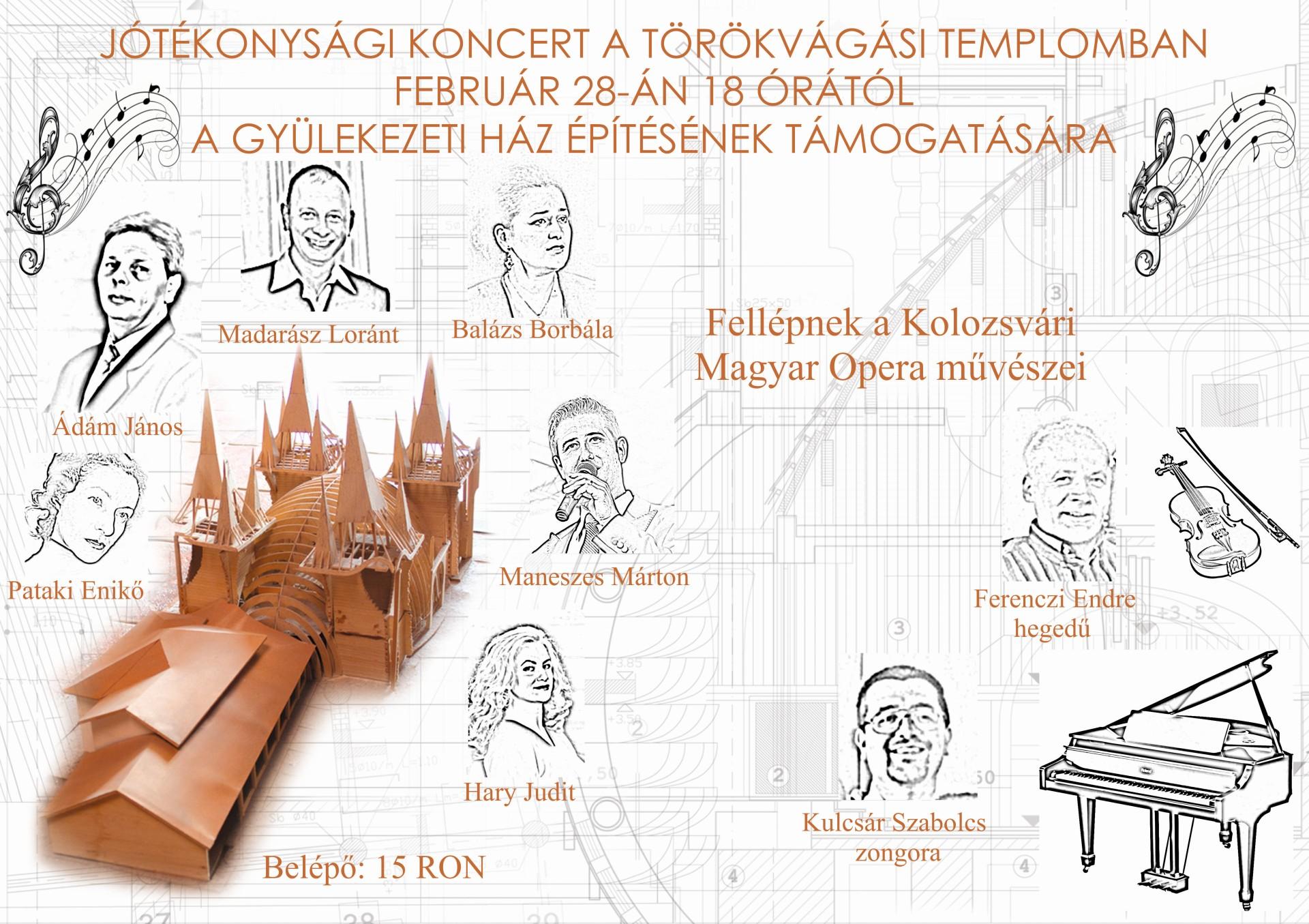 Jótékonysági koncert a törökvágási gyülekezeti ház építésének támogatására