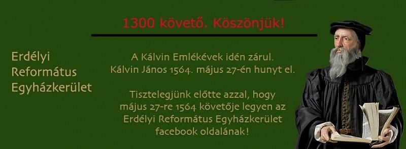 1564 lájkkal készülünk Kálvin halálának évfordulójára!
