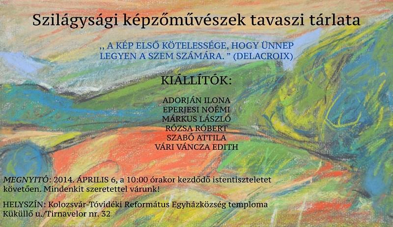 Szilágysági művészek tavaszi tárlata a Kolozsvár tóvidéki templomban