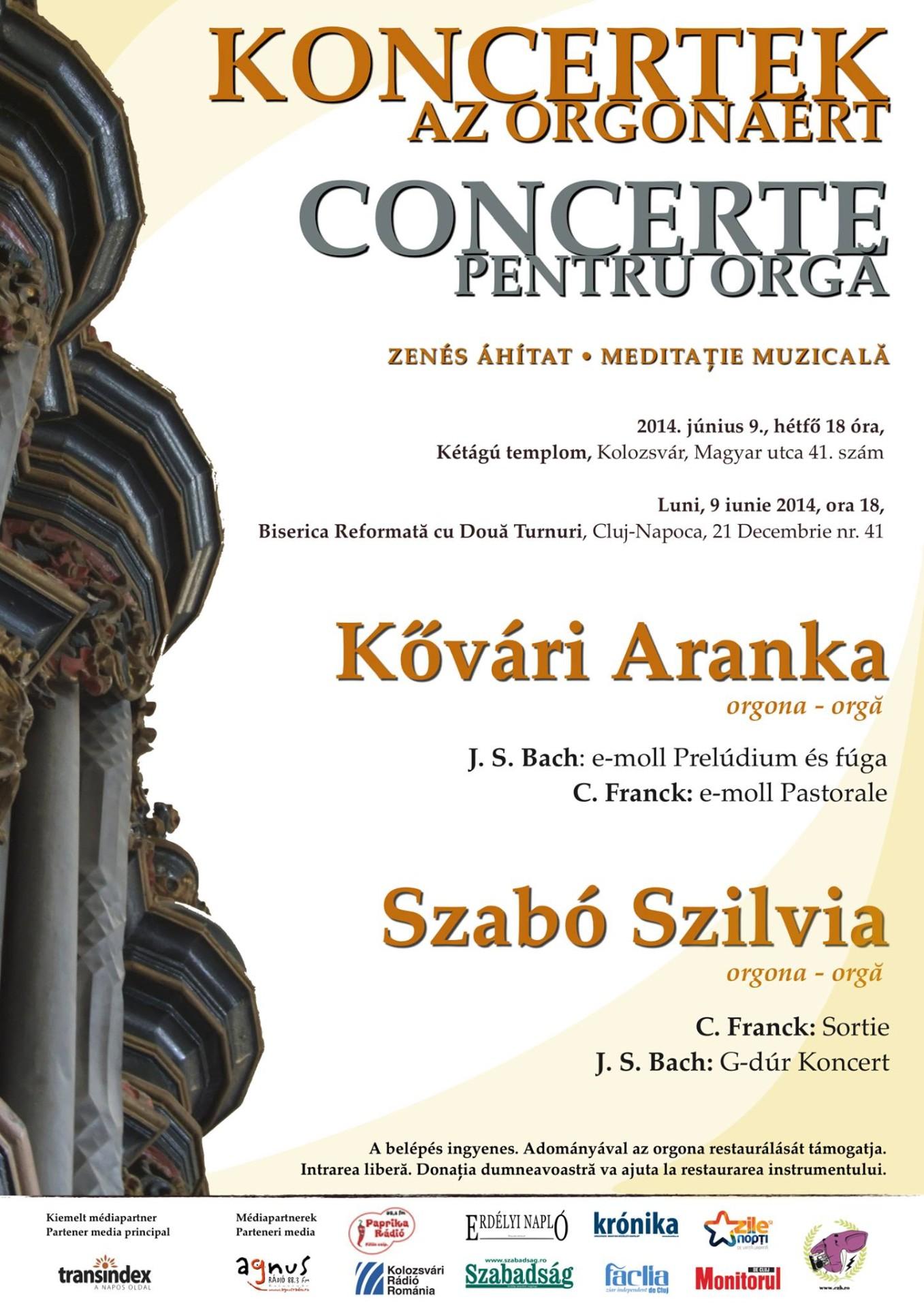 Koncertek az orgonáért - zenés áhítat a Kétágú templomban