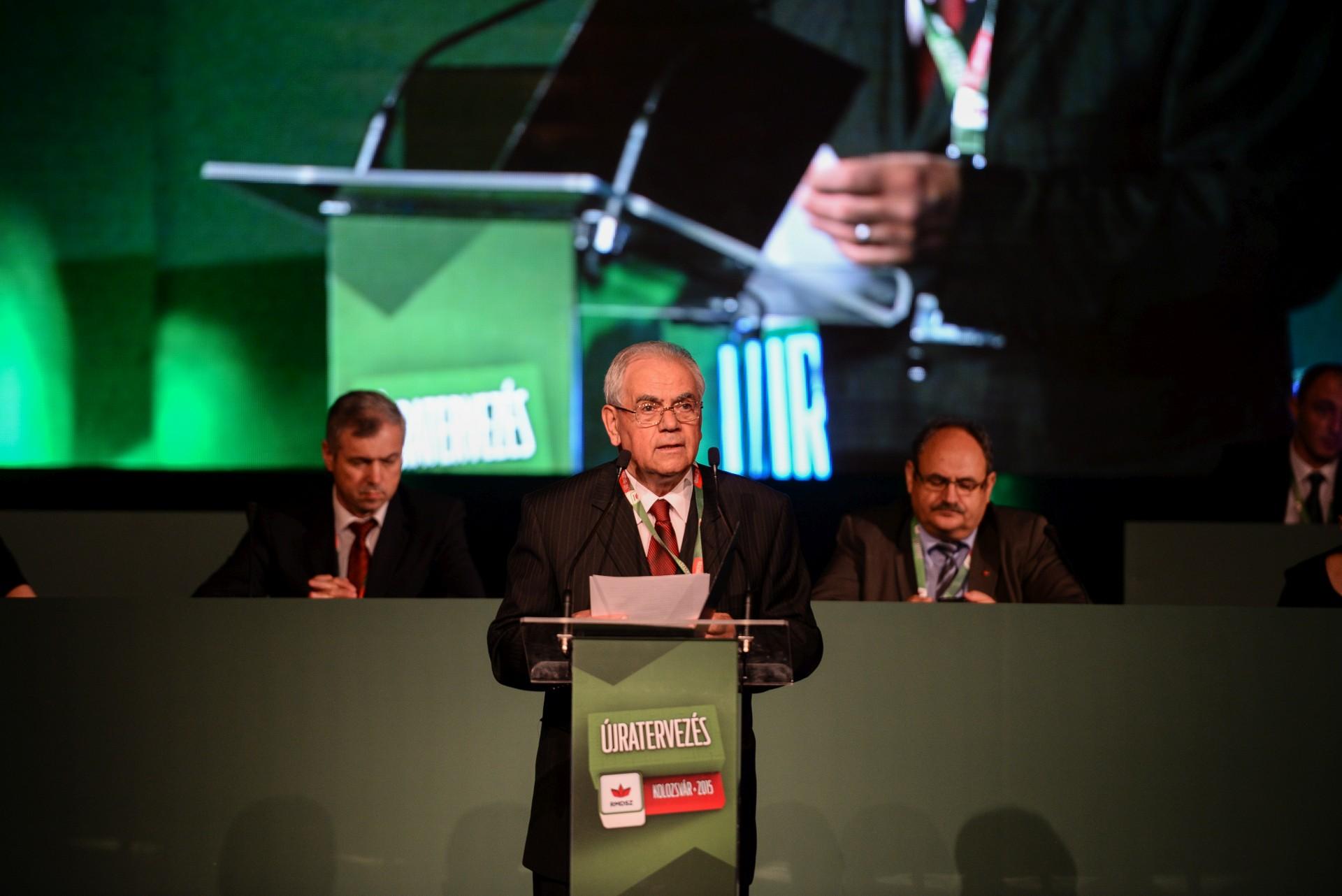 Dézsi Zoltán főgondnok felszólalás az RMDSZ 12. kolozsvári kongresszusán
