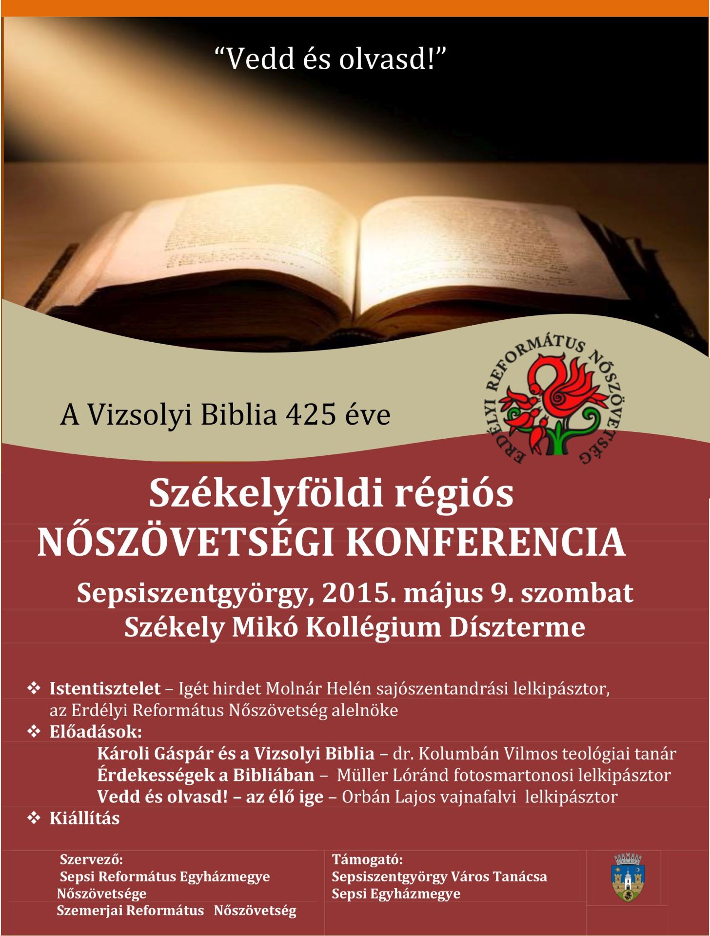 Vedd és olvasd - A Vizsolyi Biblia 425 éve