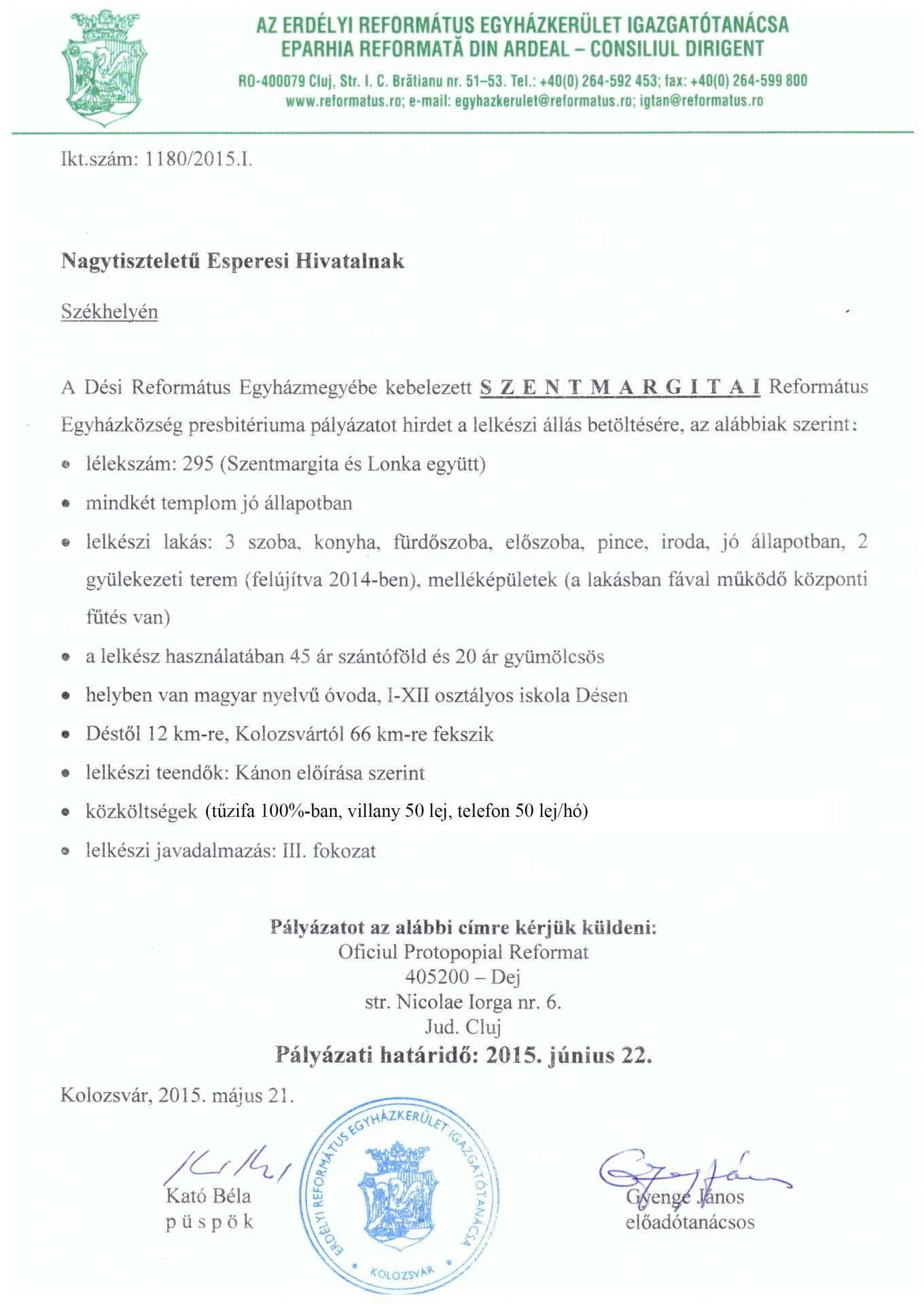 Pályázat - Szentmargita