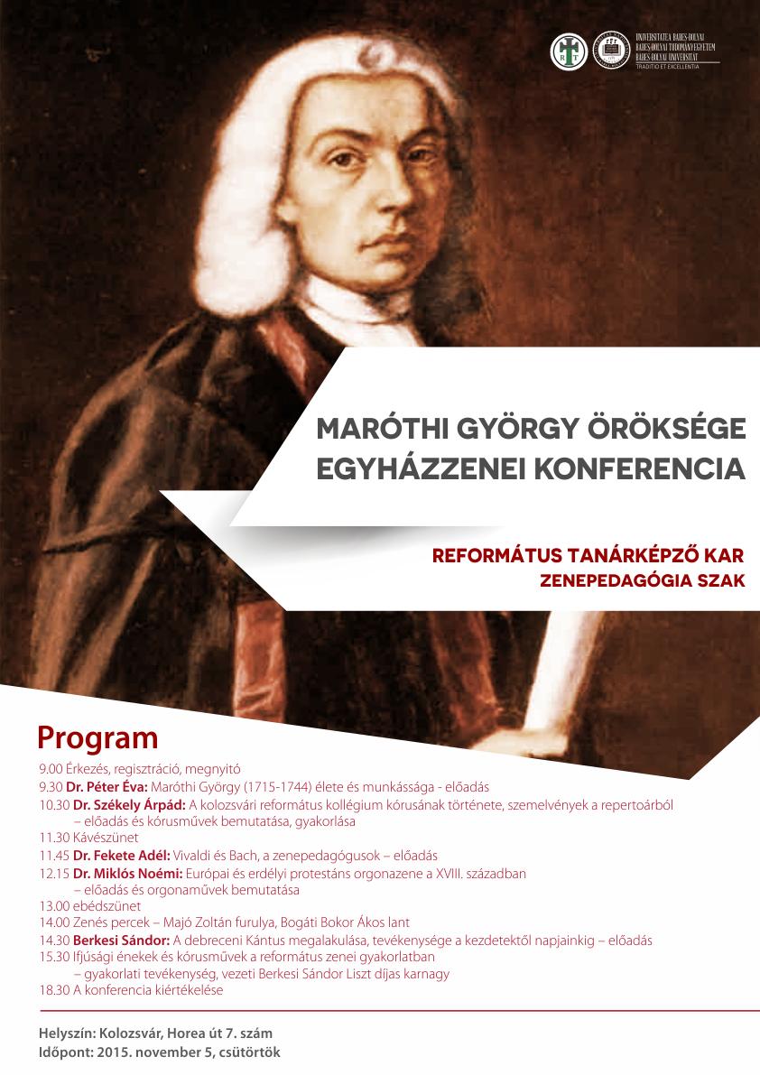 Maróthi György öröksége - Egyházzenei konferencia