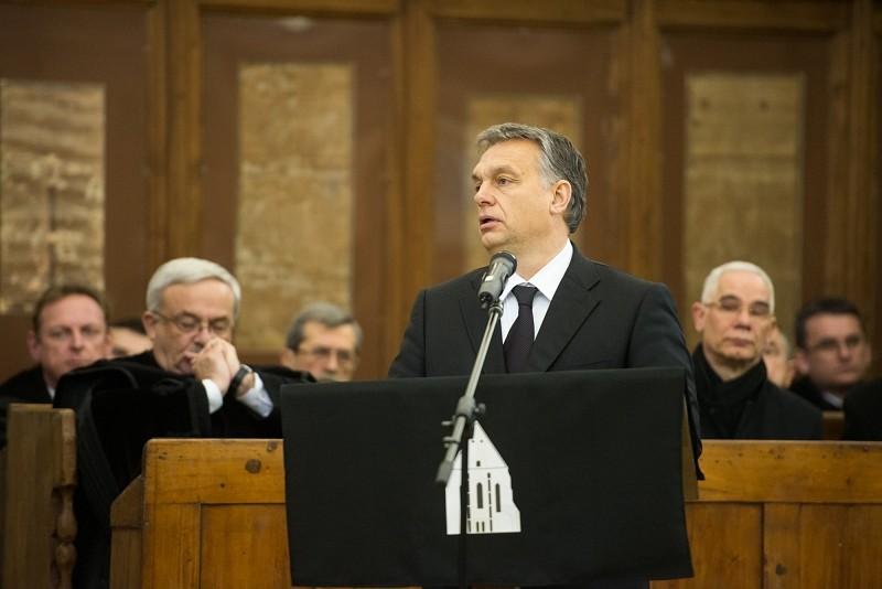 Orbán Viktor beszéde Tőkés István professzor temetésén