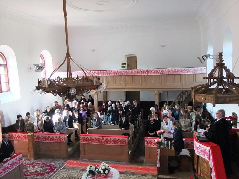 Megújult a harasztosi református templom belseje