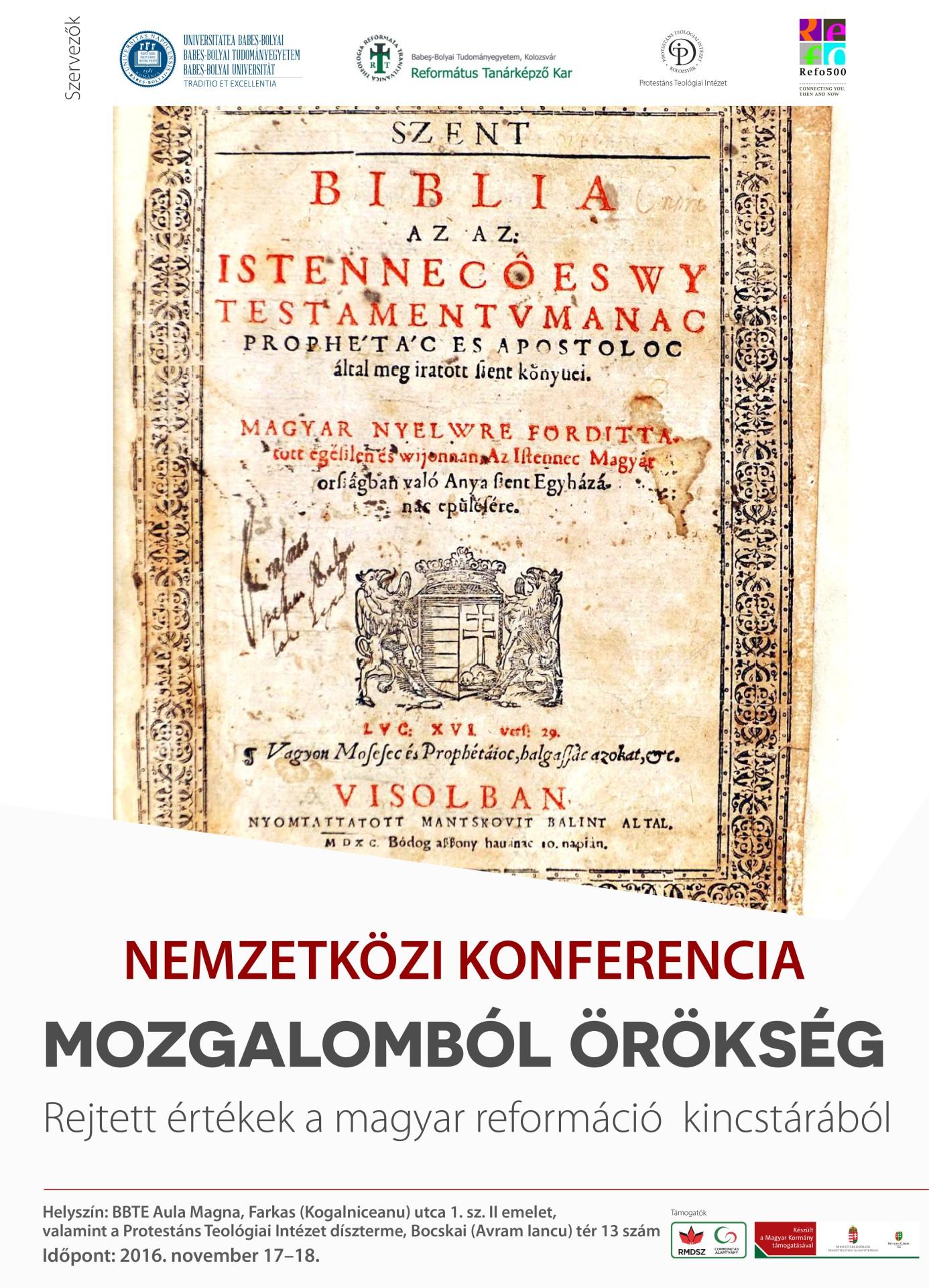 Mozgalomból örökség - nemzetközi konferencia Kolozsváron