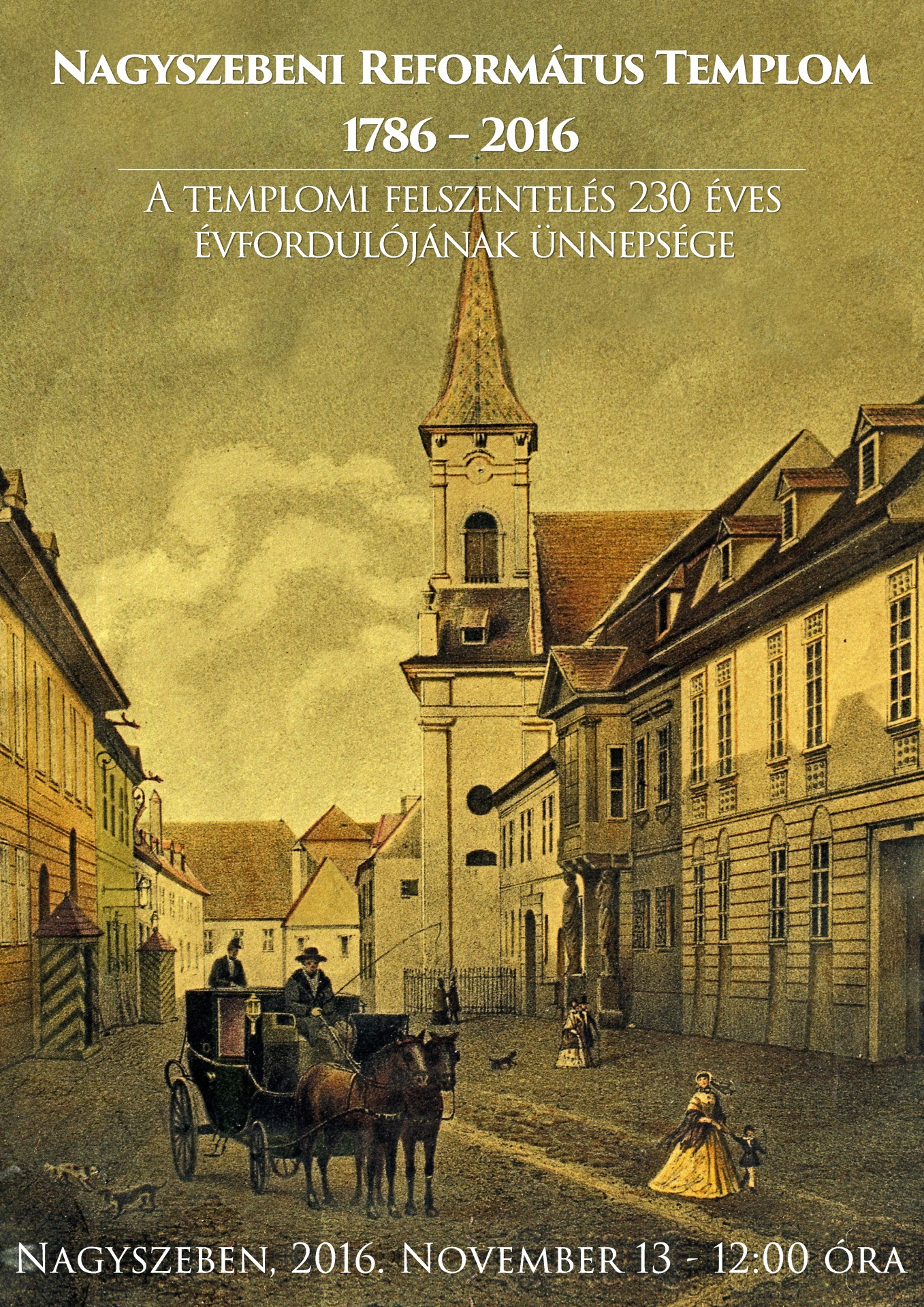 230 éves a nagyszebeni református templom