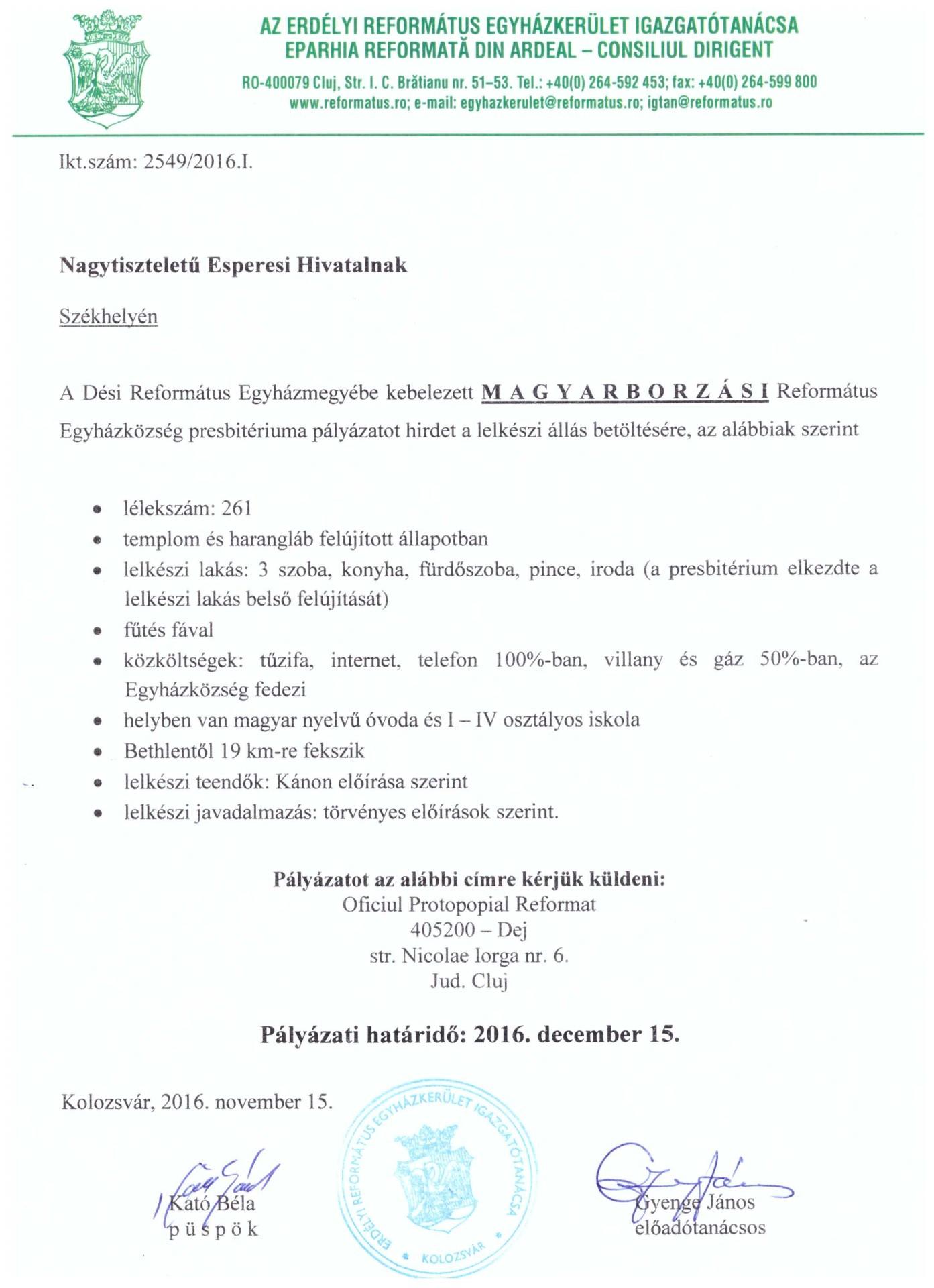 Pályázat - Magyarborzás