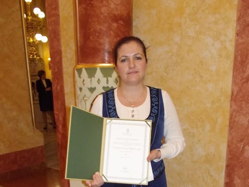 Csokonai Vitéz Mihály önálló alkotói díjat kapott Boros Erzsébet