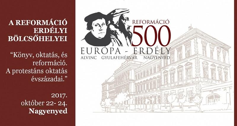 A reformáció erdélyi bölcsőhelyei – konferenciát tartanak Nagyenyeden