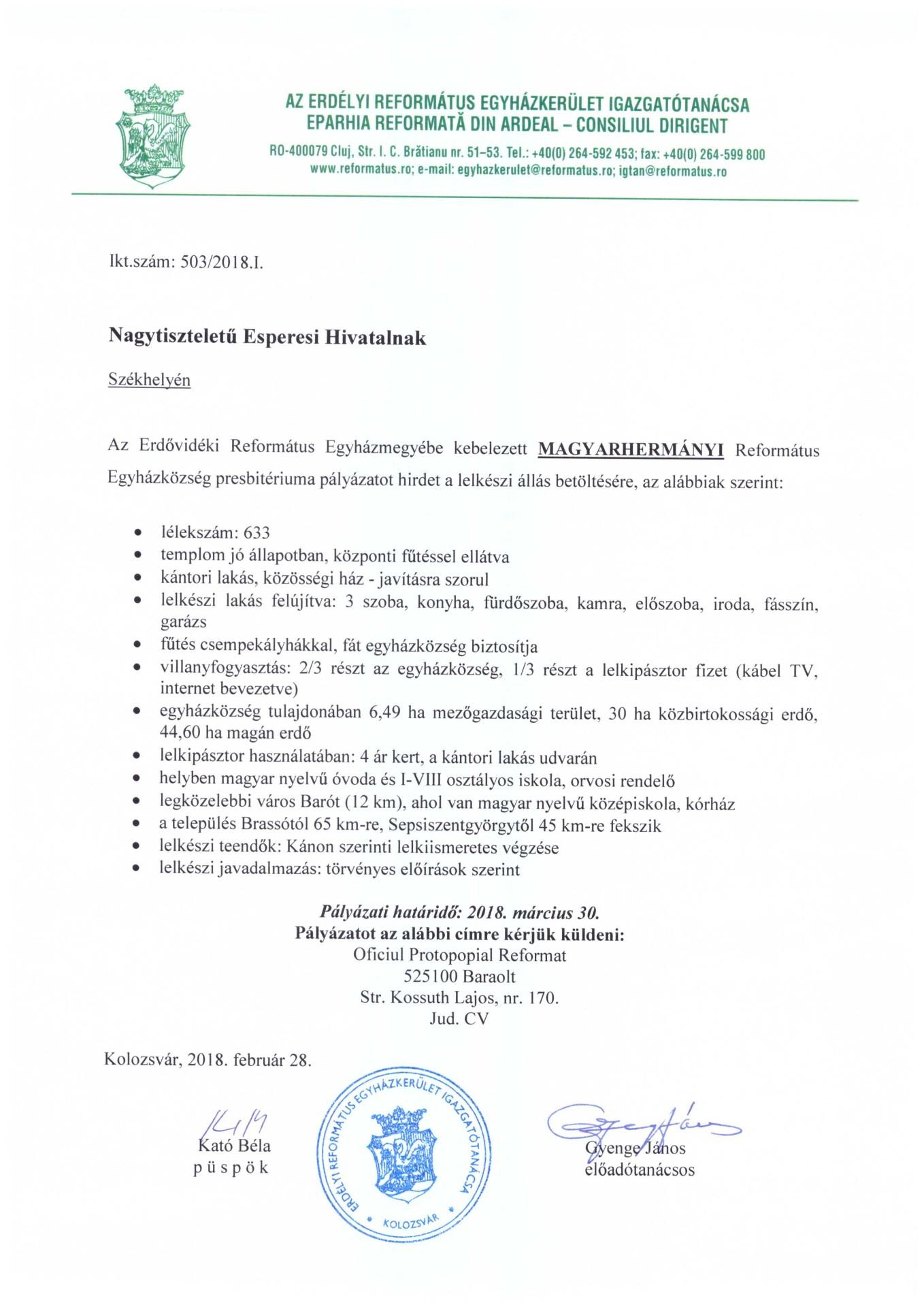 Pályázat - Magyarhermány