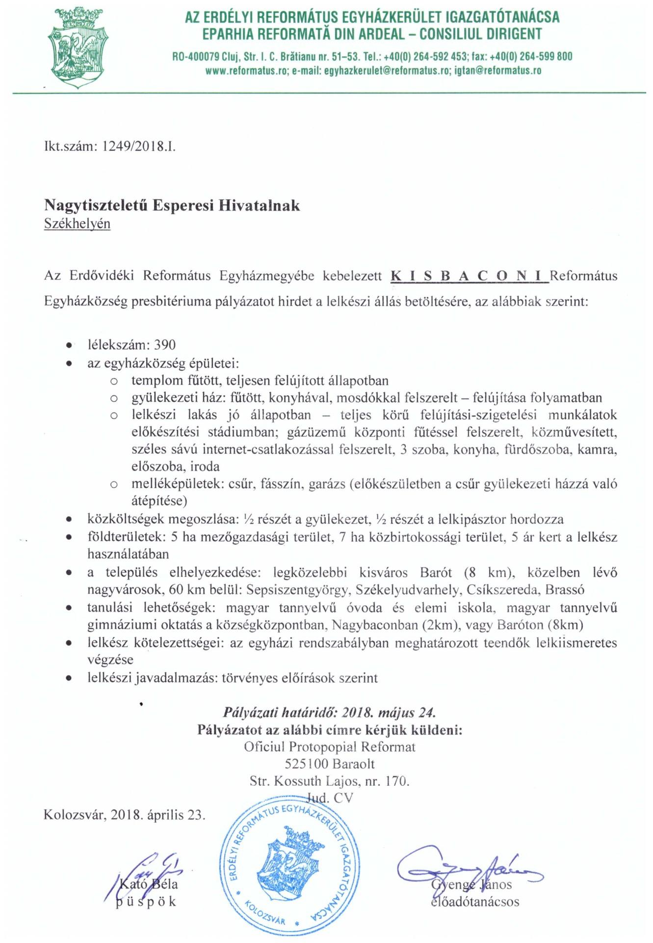 Pályázat - Kisbacon