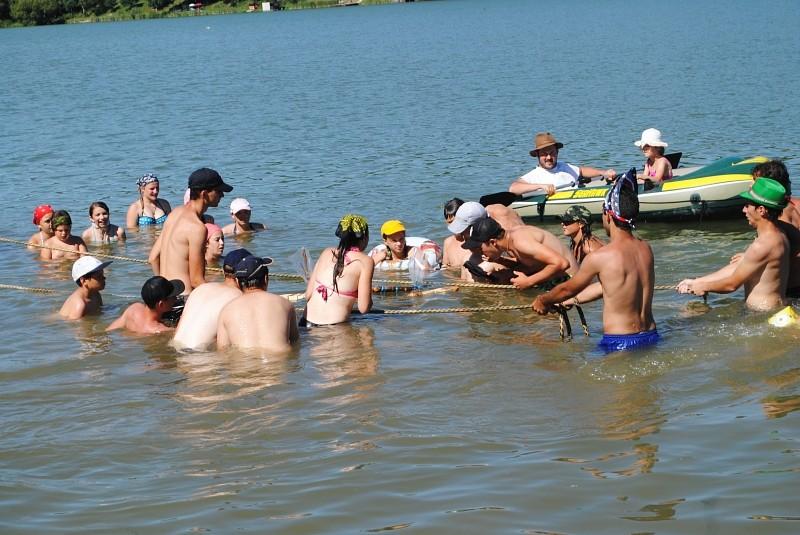 Hunok a besenyői tónál