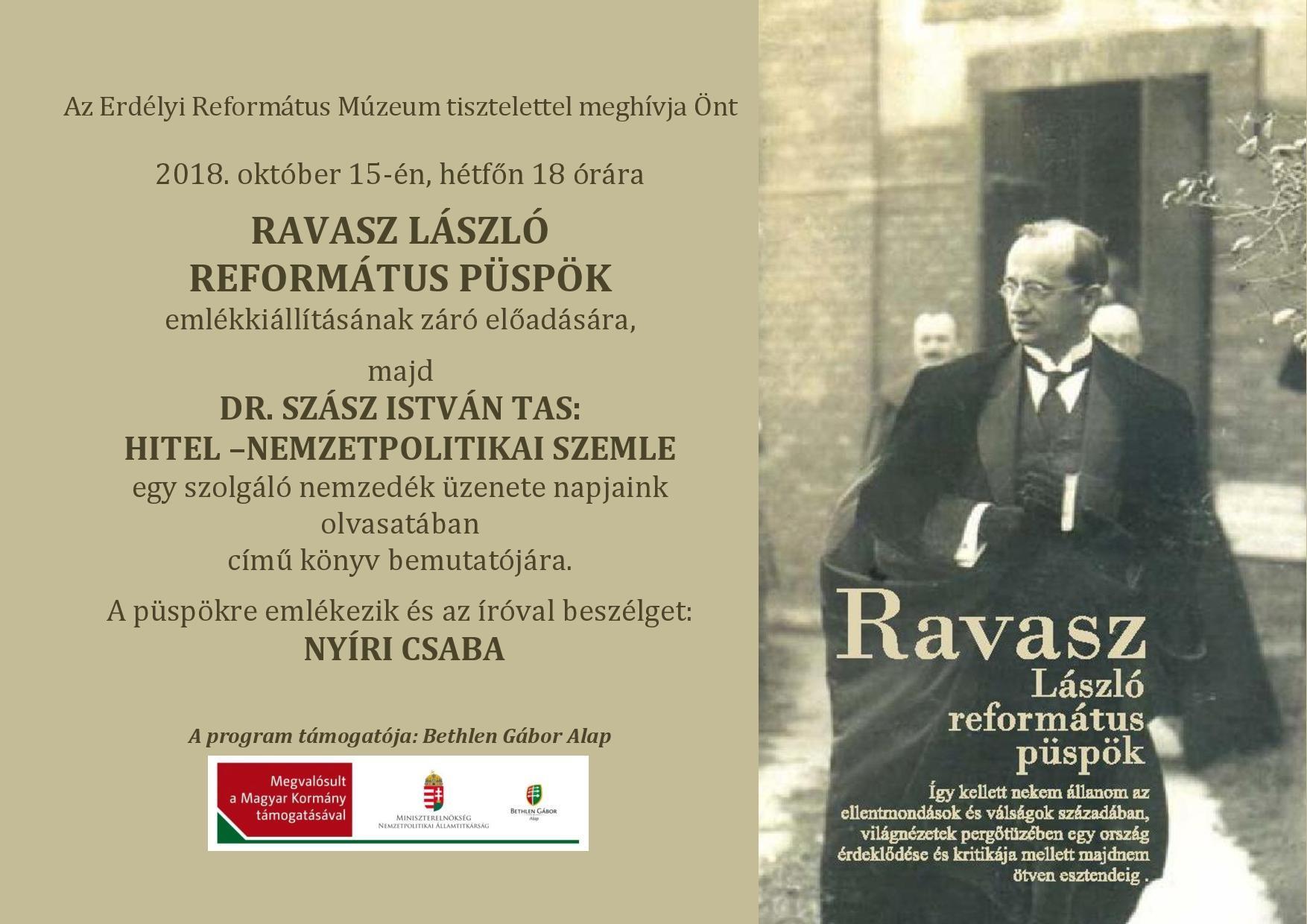 Zárul a Ravasz László emlékkiállítás