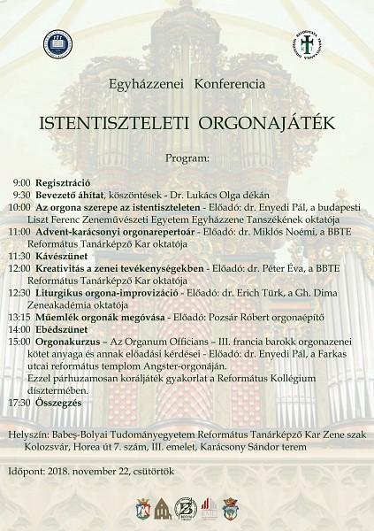 Konferencián értekeznek az istentiszteleti orgonajátékról
