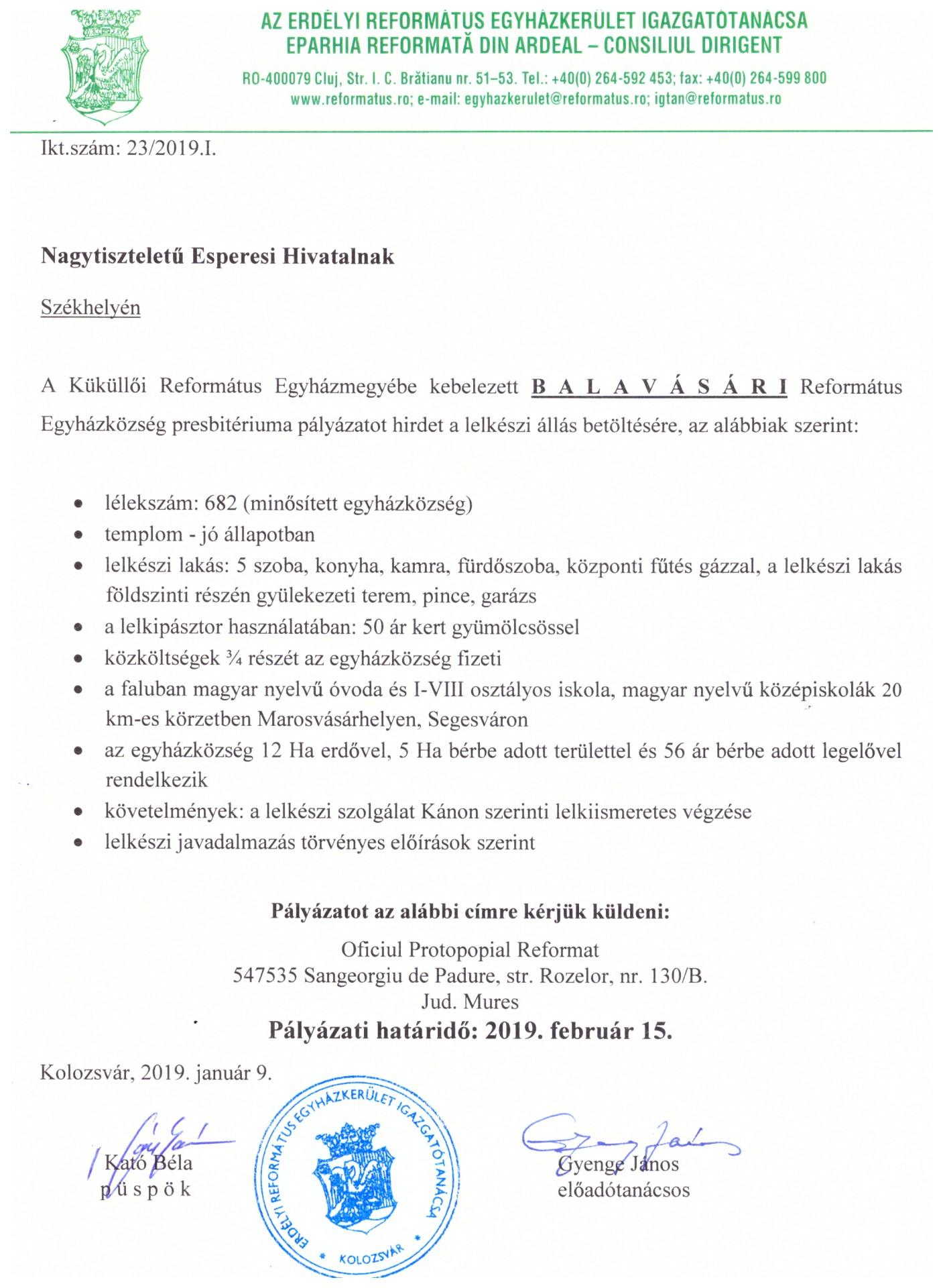 Pályázat - Balavásár