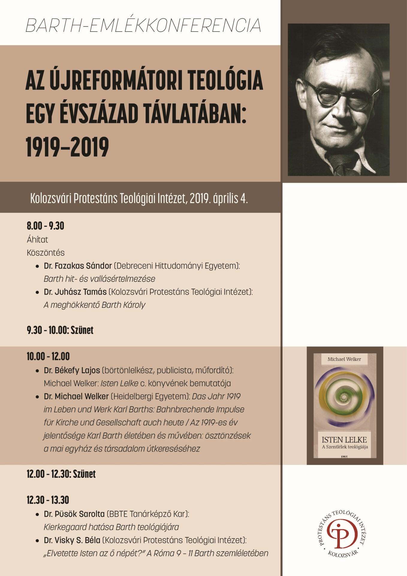 Barth-emlékkonferenciát szerveznek Kolozsváron