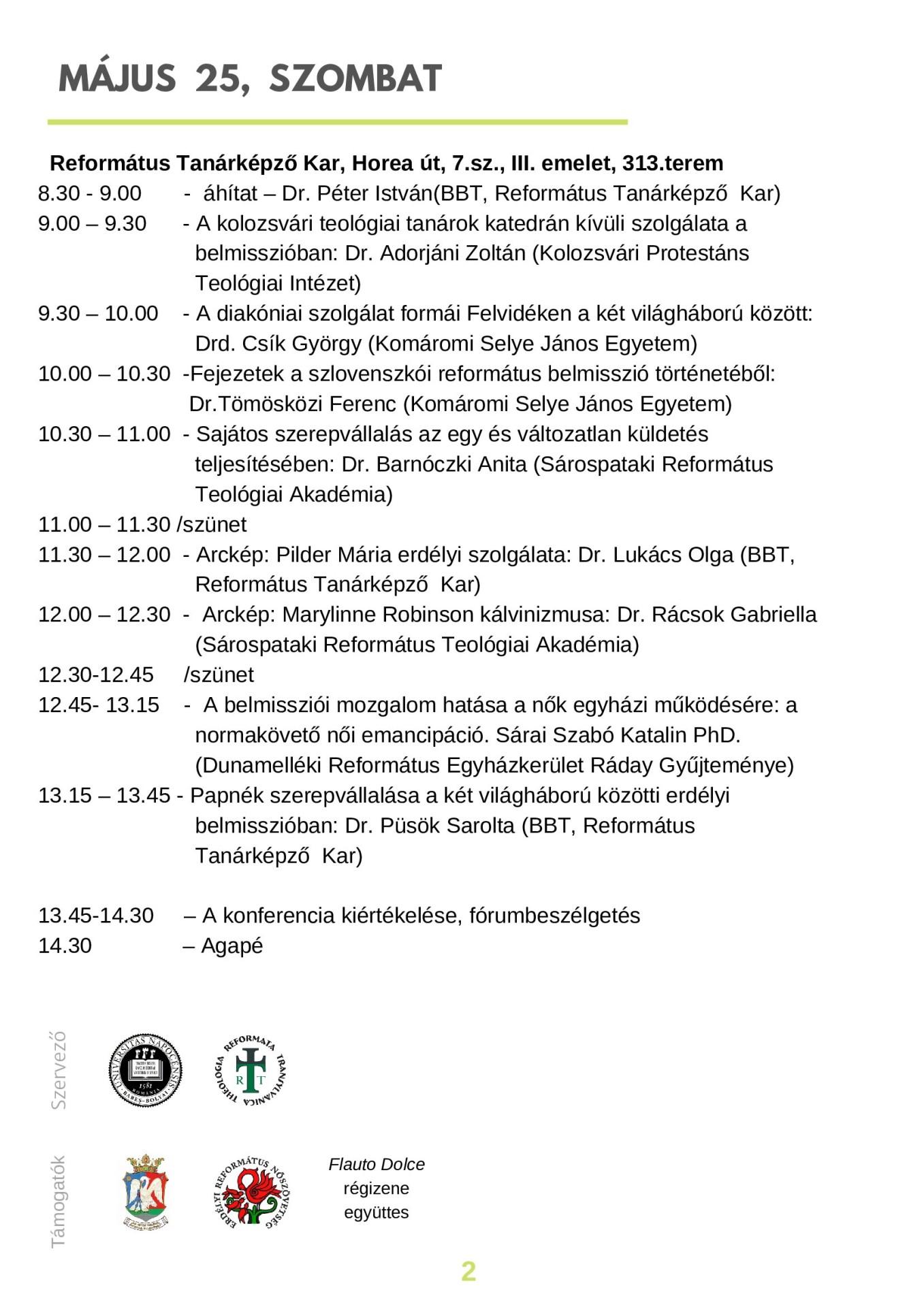 Konferenciával ünneplik a Református Családot Kolozsváron