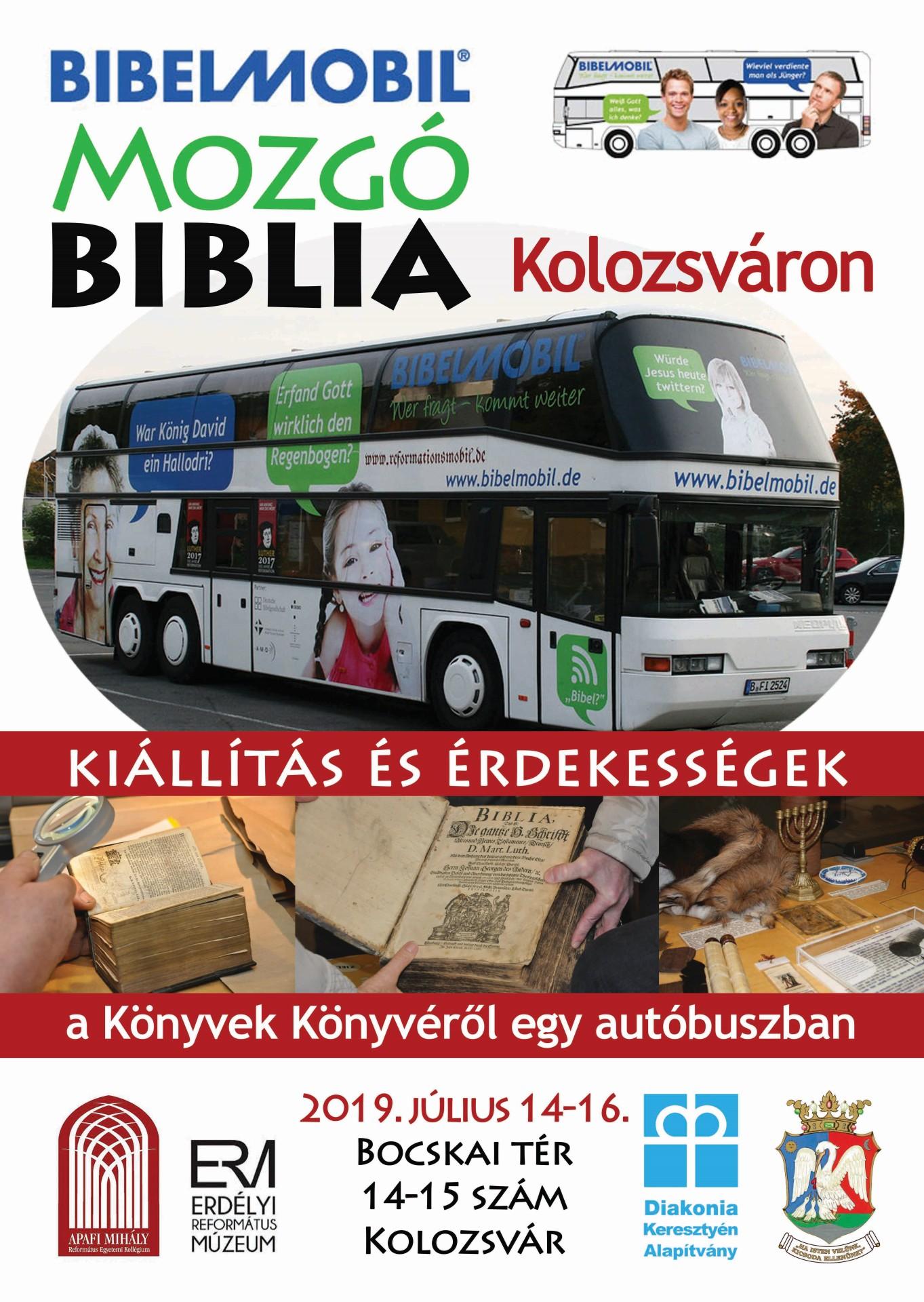 Bibliakiállítás négy keréken