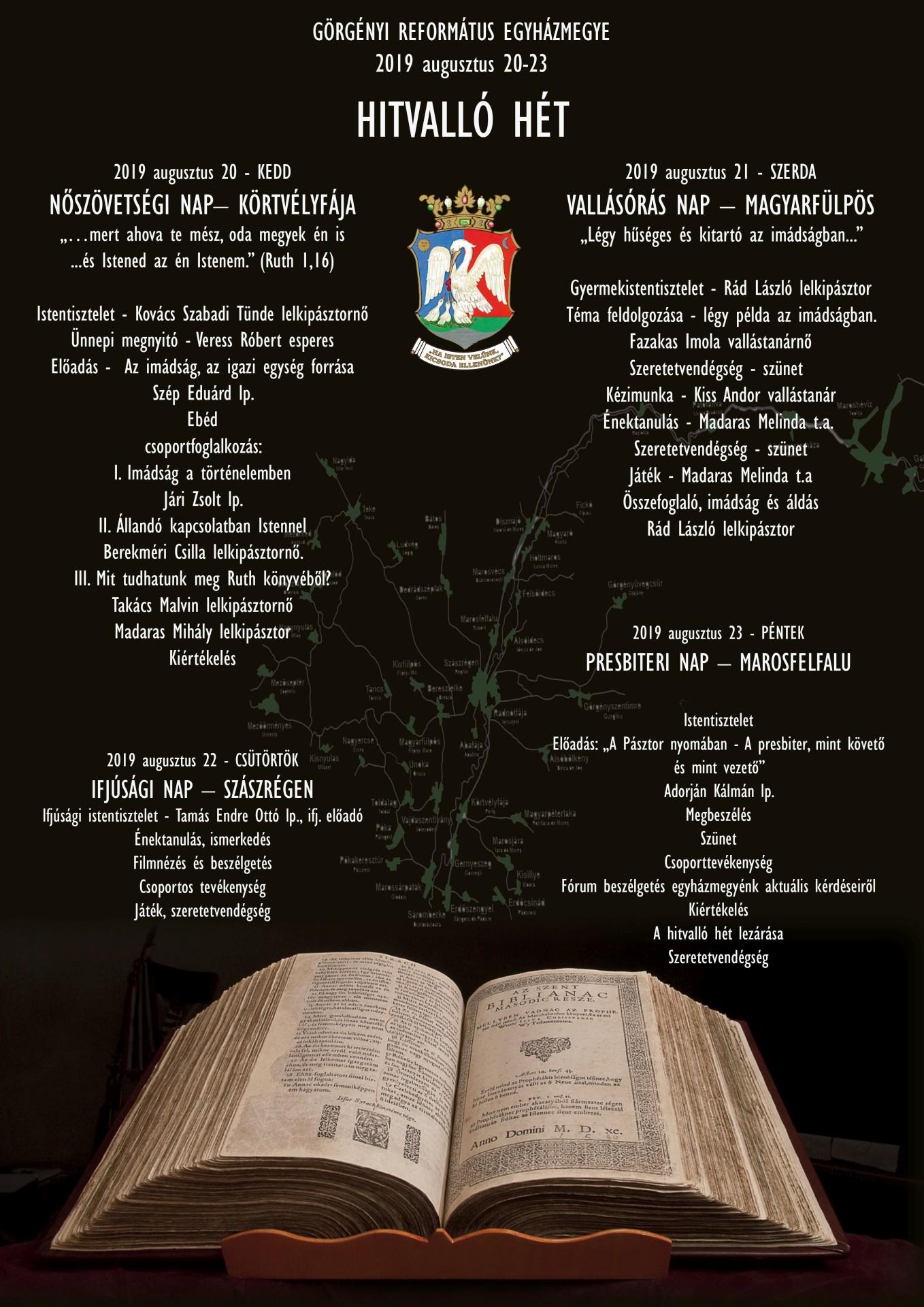 Hitvalló hetet tart a Görgényi Református Egyházmegye