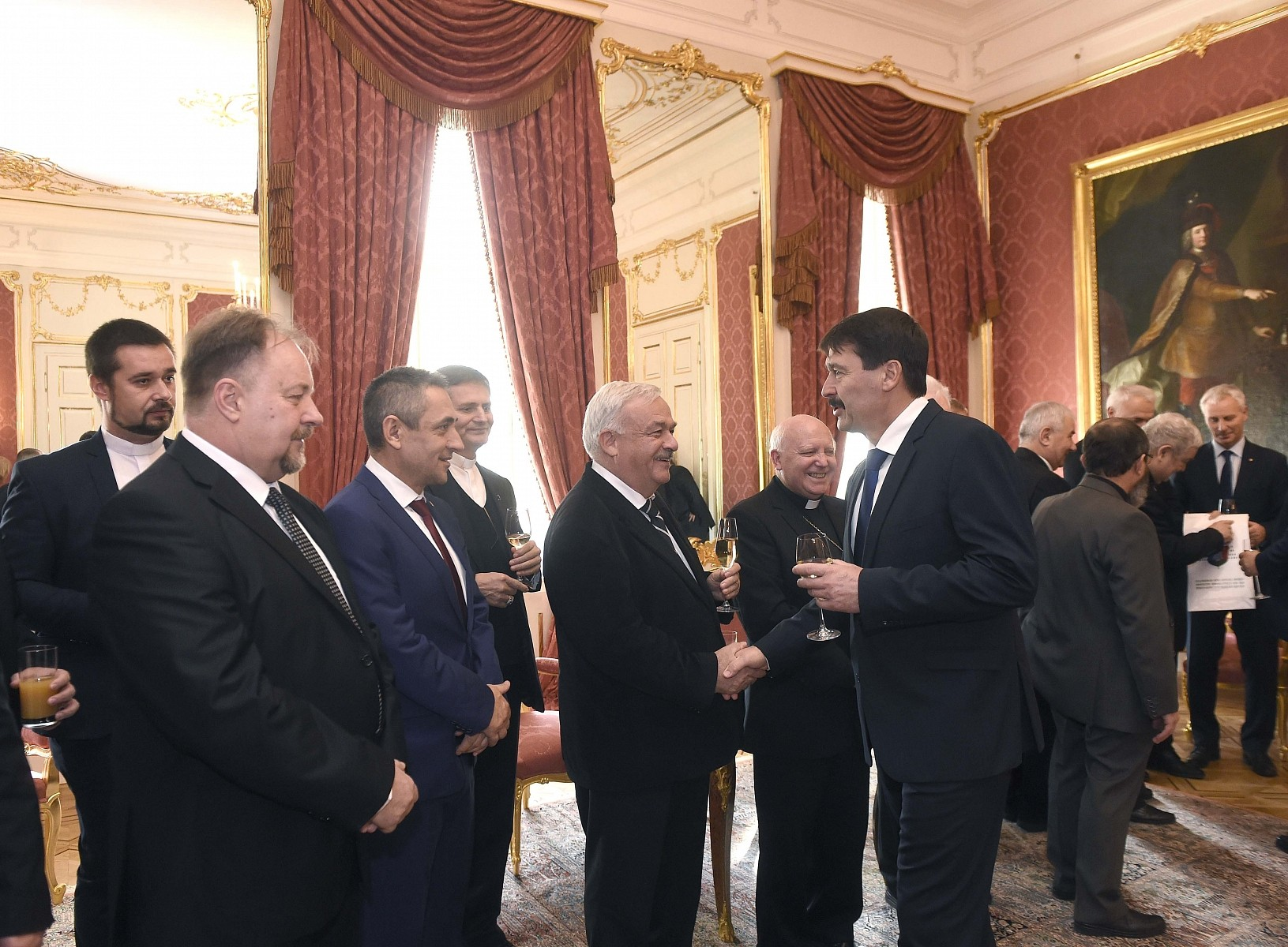 Áder Jánossal találkoztak a külhoni magyar egyházi vezetők